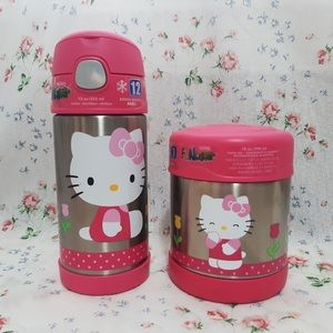 Hello Kitty Thermos Water Bottle & Food Container